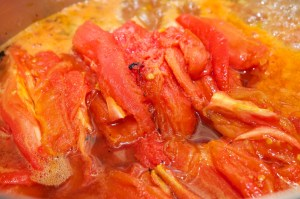 Add roasted tomatoes