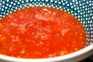 Capture tomato juice