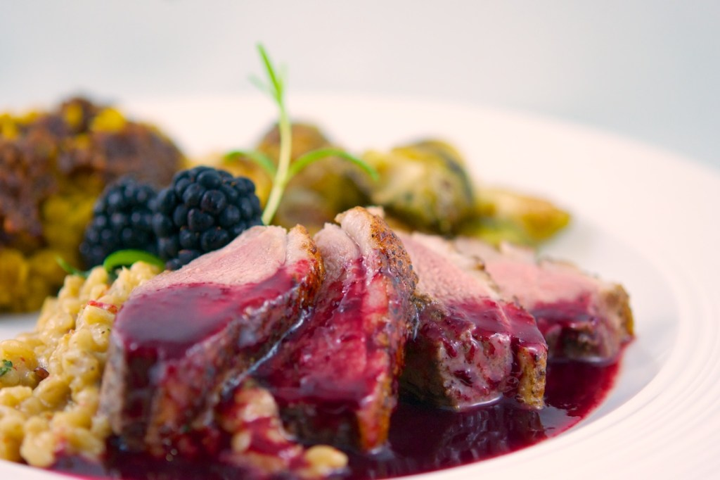 Duck Breast with Blackberry and Chambord Sauce