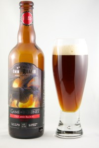 Fire and Blood (Red Ale) Ommegang Brewery (label)
