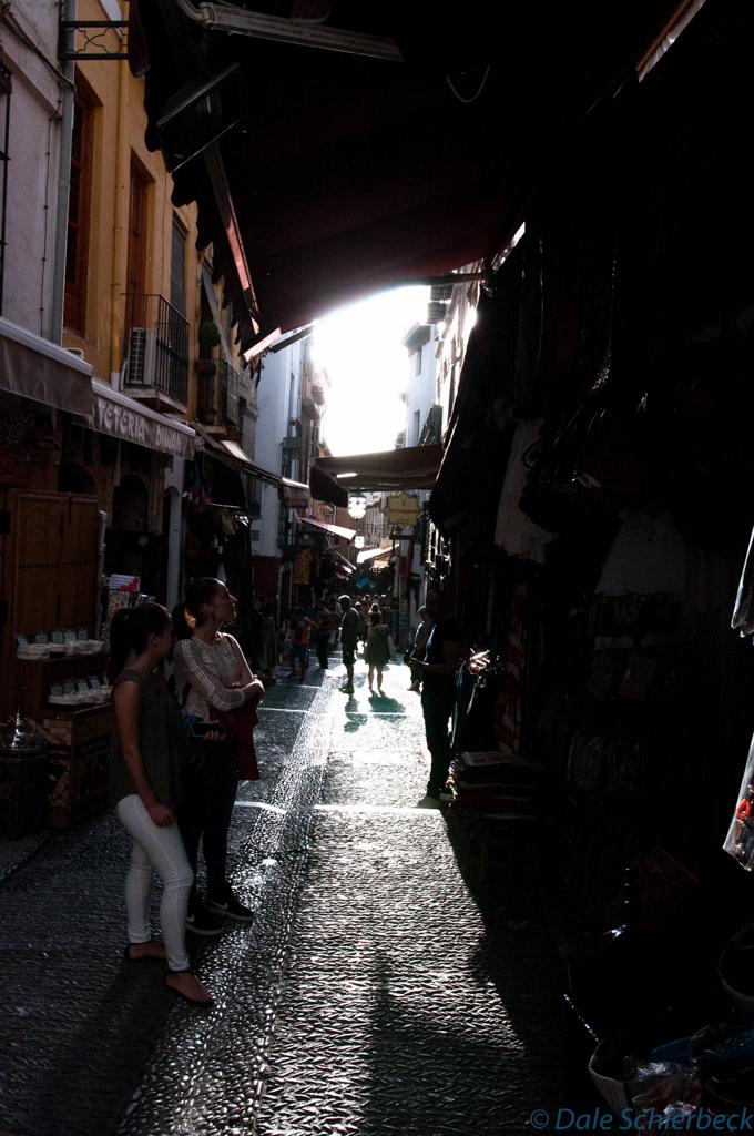Up streets of Albaicin - shadowed streets