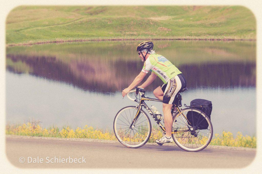 man on a road bike