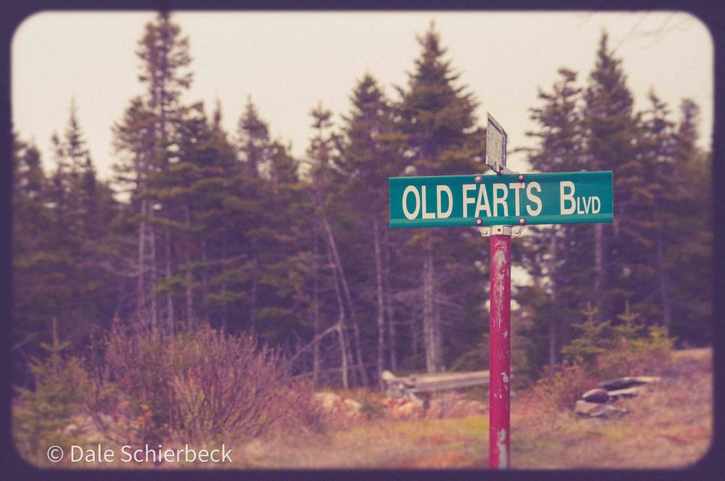 street sign of old farts blvd