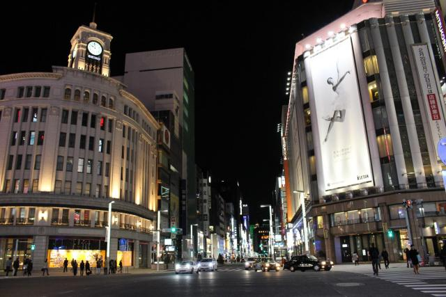 two weeks in Japan: this is a look at the Ginza neighborhood in Tokyo