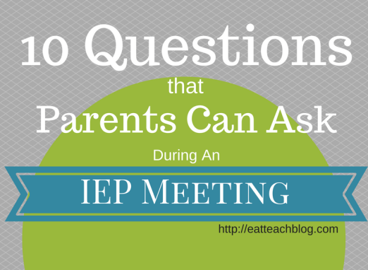Questions Ask IEP Meeting