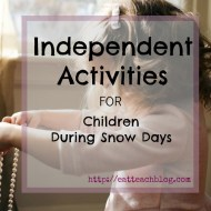 10 Independent Activities to Keep Children Busy At Home