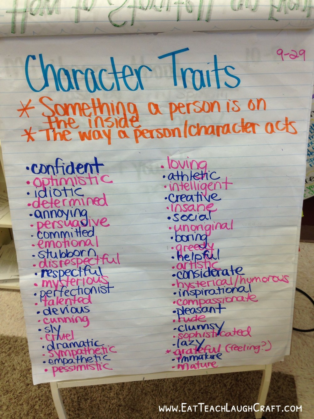 medium resolution of Categorizing Character Traits in a 5th Grade Class - Eat Teach Laugh Craft