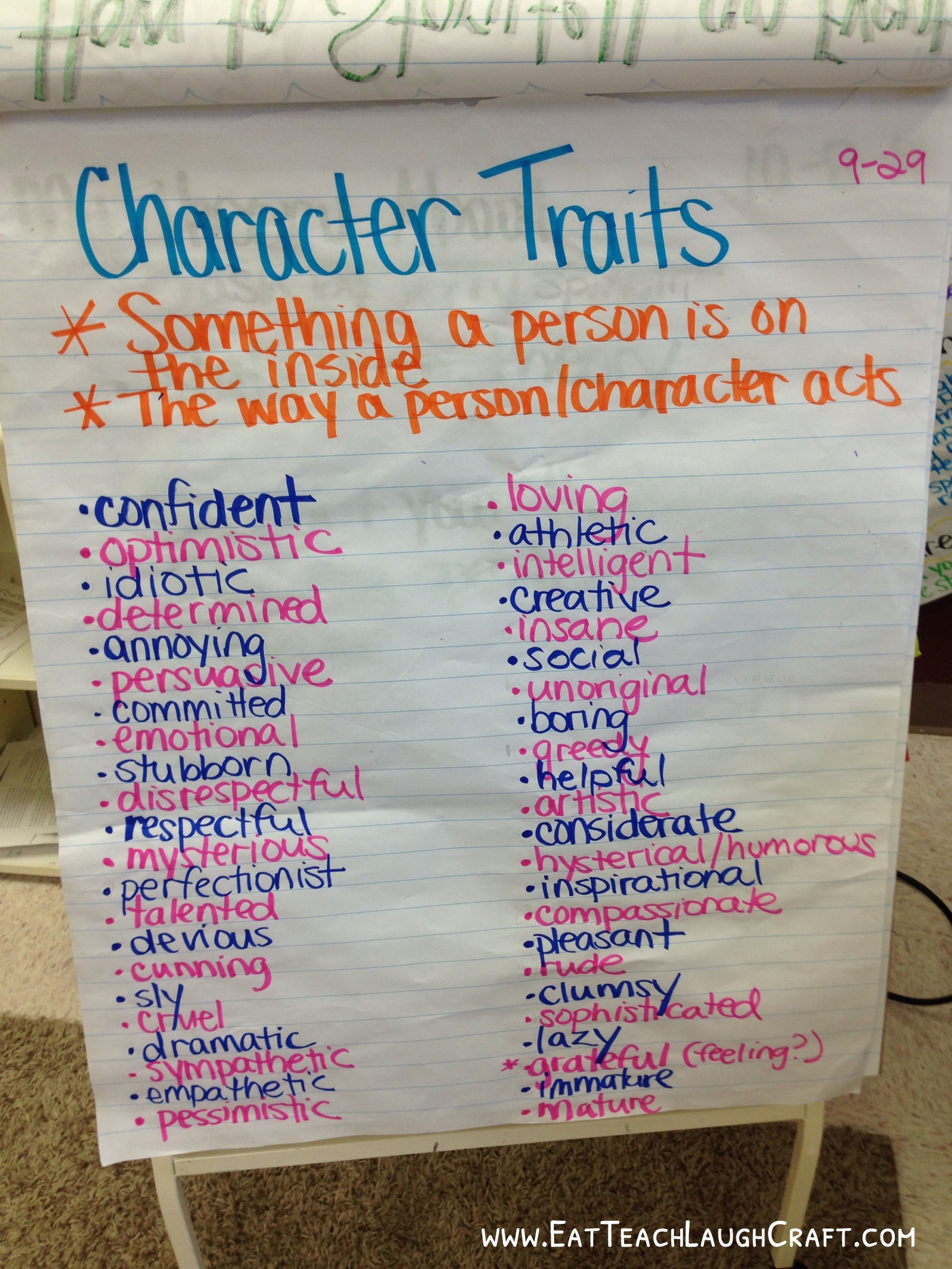 hight resolution of Categorizing Character Traits in a 5th Grade Class - Eat Teach Laugh Craft