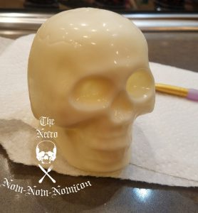 skull ready to paint