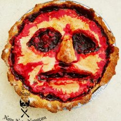 cherry face pie for Halloween