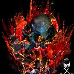 Halloween Recipe: The Inferno Flaming Chocolate Skull Cake
