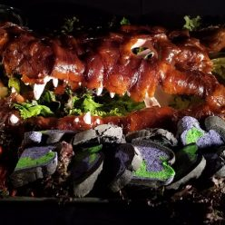 Halloween Recipe: Smoked Salmon Gator with Mudbugs and Swamp Sauce