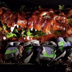 Halloween Recipe: Smoked Salmon Gator with Mudbugs and Swamp Sauce