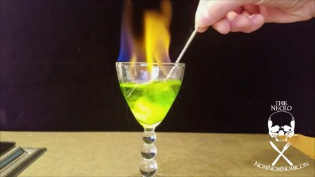 Halloween Boo-zy Beverage: The Flaming Phantom