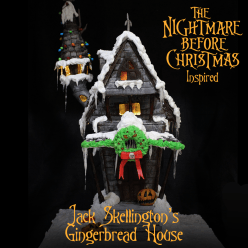 Nightmare Before Christmas Gingerbread house hero shot