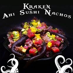 Kraken Sushi Nachos made with Ahi tuna