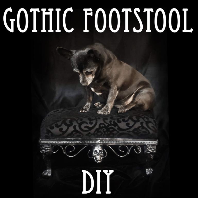 Astounding Diy Recovering A Gothic Footstool Welcome To The Necro Creativecarmelina Interior Chair Design Creativecarmelinacom