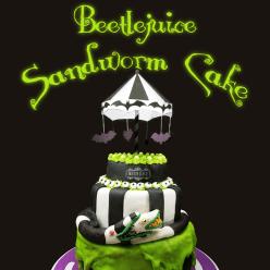 Beetlejuice sandworm cake hero