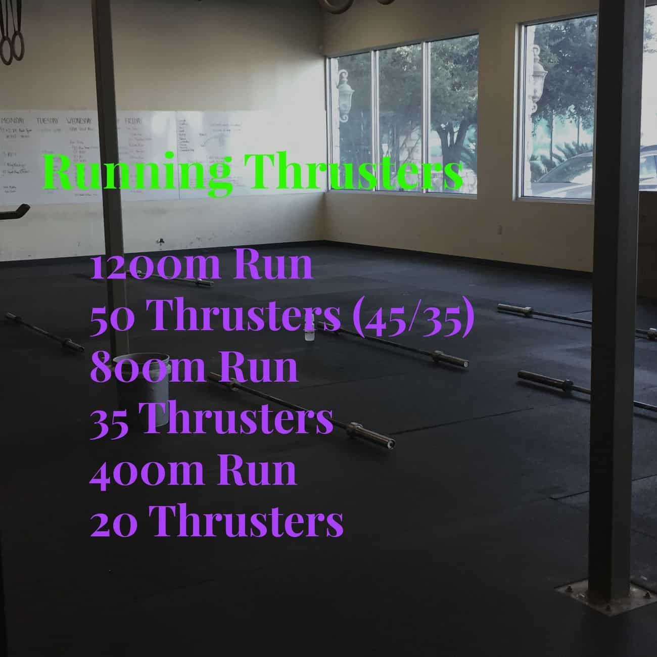 Running and Thruster WOD