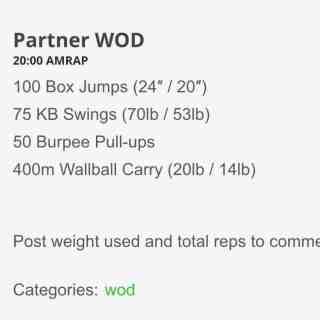 Making the Gains – 20 minute Partner WOD