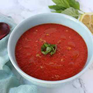 Chilled Roasted Tomato & Red Pepper Soup
