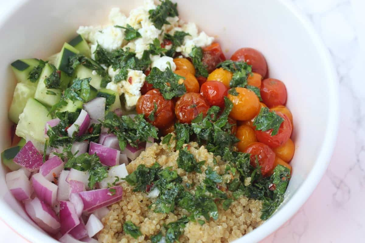 Roasted Tomato Quinoa Salad