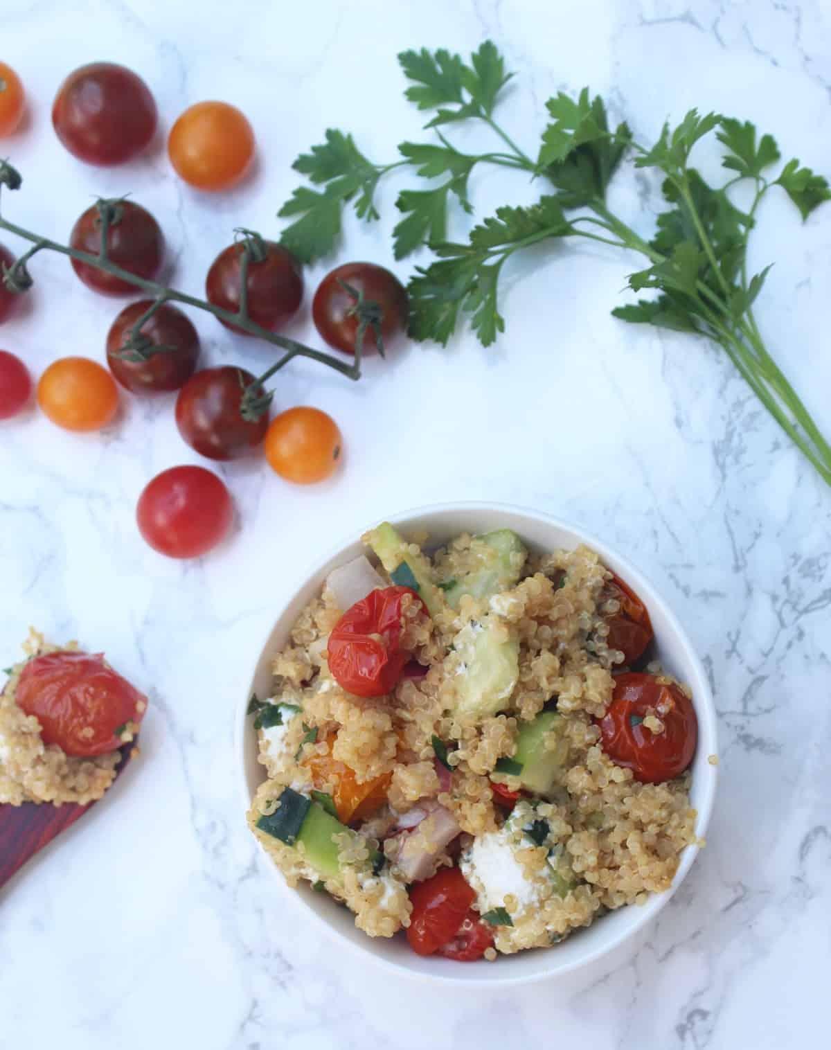 Roasted Tomato Quinoa Salad-6
