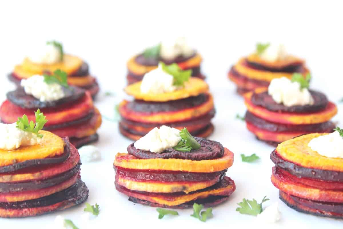how to cook spiral beets and sweet potato