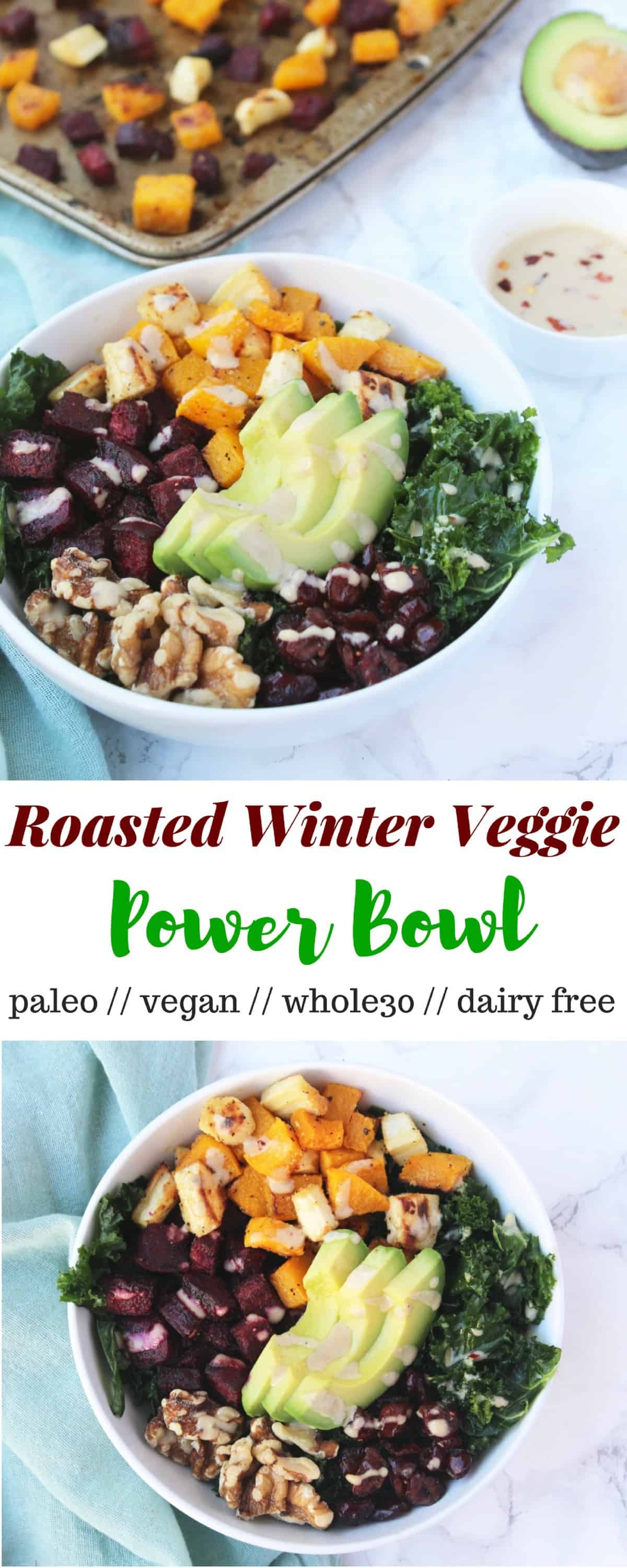 Roasted Winter Veggie Power Bowl
