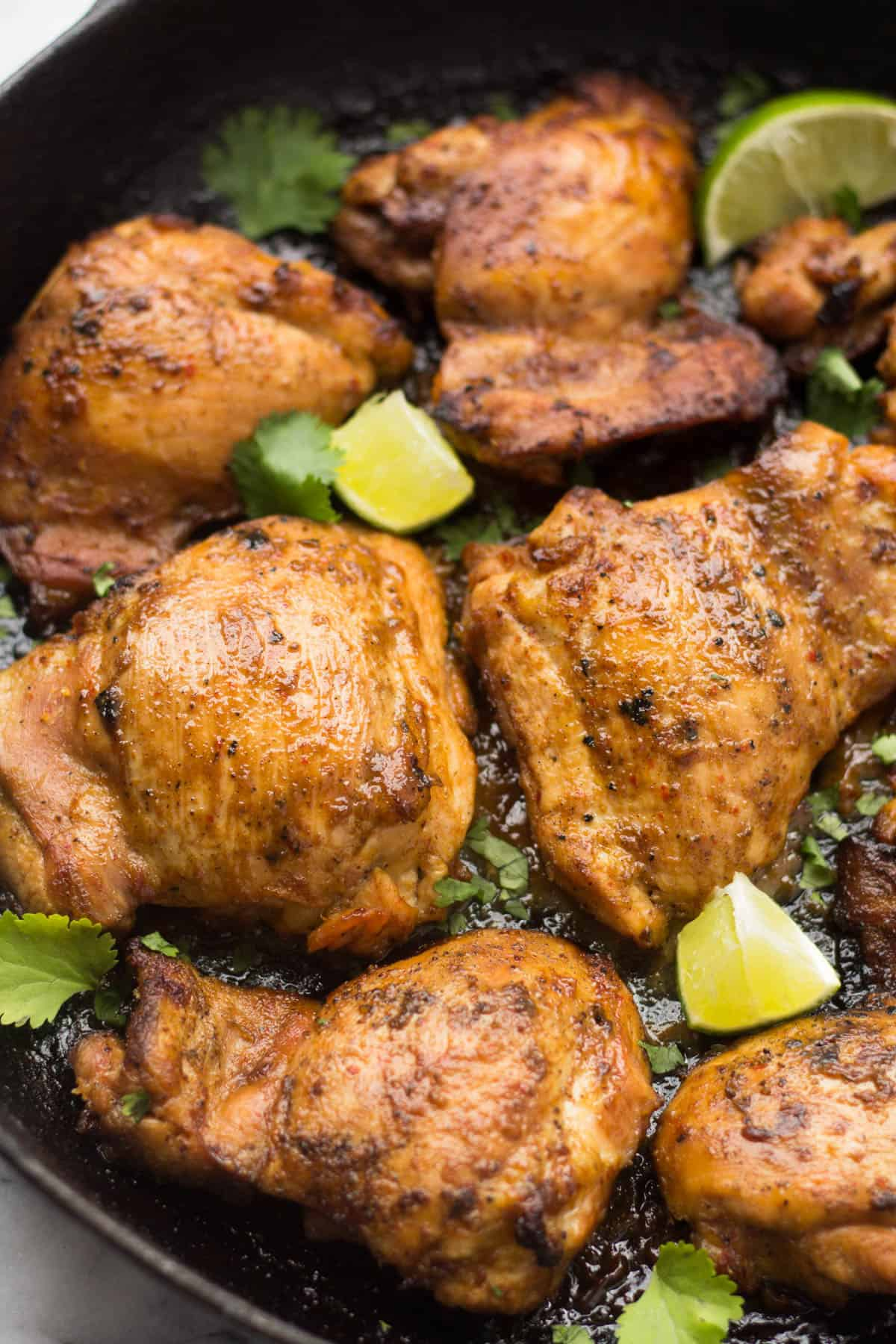 An easy and flavorful protein, these Ginger Lime Chicken Thighs will make the perfect accompaniment to any meal - gluten free, dairy free, paleo, & Whole30 approved! - Eat the Gains