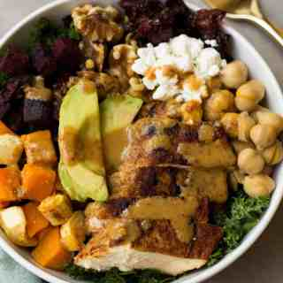 Fall Veggie Chicken Power Bowl