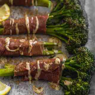 Prosciutto Wrapped Roasted Broccolini