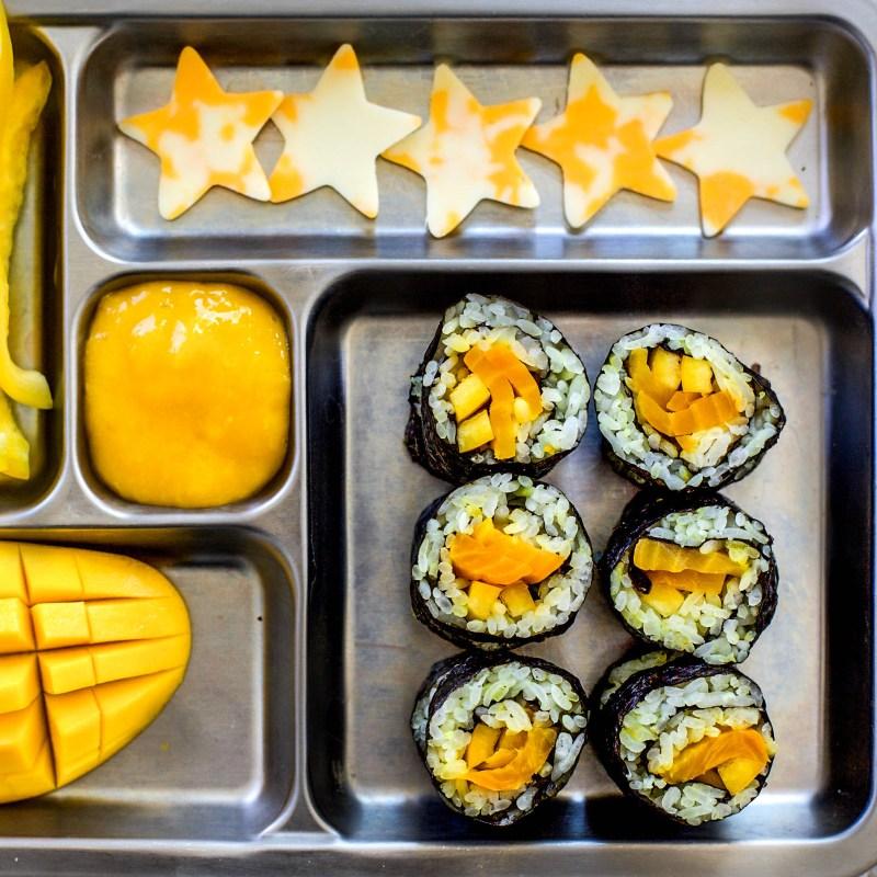 yellow kid-friendly sushi