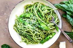 spinach pesto spaghetti