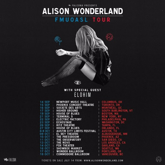 Alison Wonderland and Elohim team up for a 20 show tour throughout September-October