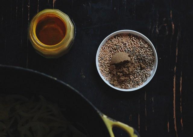 tarka dhal spices