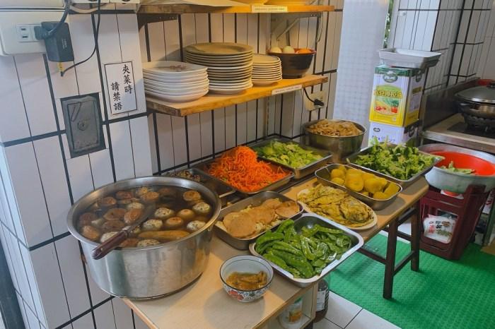 安平五期素食|一間非常不起眼的小店~沒有裝潢  簡簡單單《素素便當》