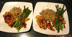 Can you tell which one I plated for pictures? HInt- the neater one.