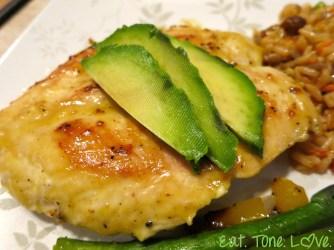 Honey Mustard Chicken with Avocado
