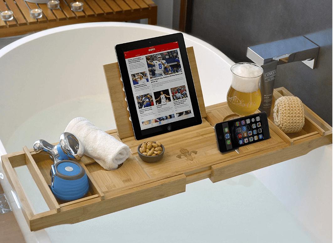 Bathtub Caddy  Laptop Bed Desk  Eat Travel Hustle  Blog