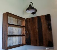 how to make a farmhouse medicine cabinet: diy project