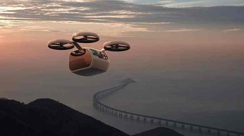 Kite passenger drone