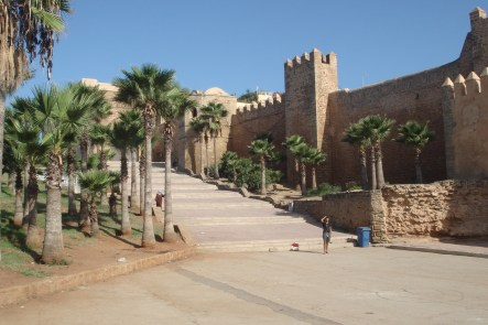 Oudaya Kasbah in Rabat from the outside