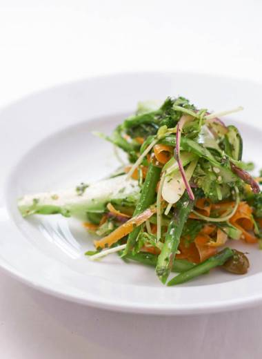 Shaved Vegetable Salad with Lemon and Tarragon Dressing
