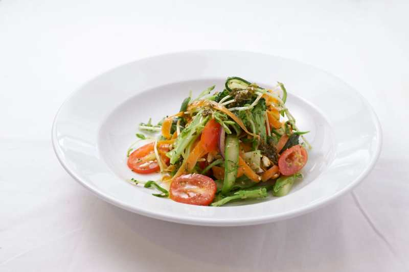 Shaved Vegetable Salad with Chimichurri Sauce