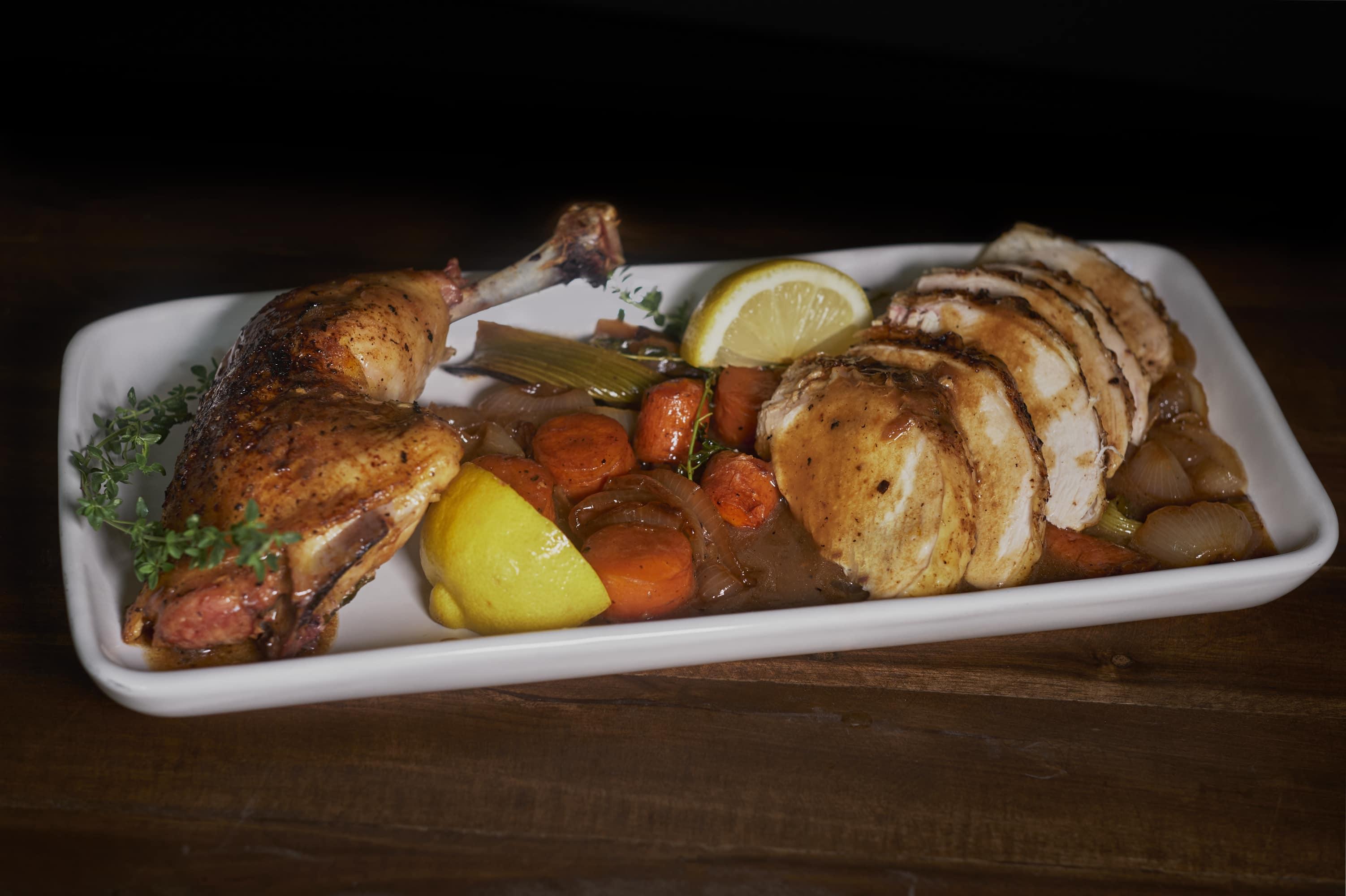 Split Roast Chicken
