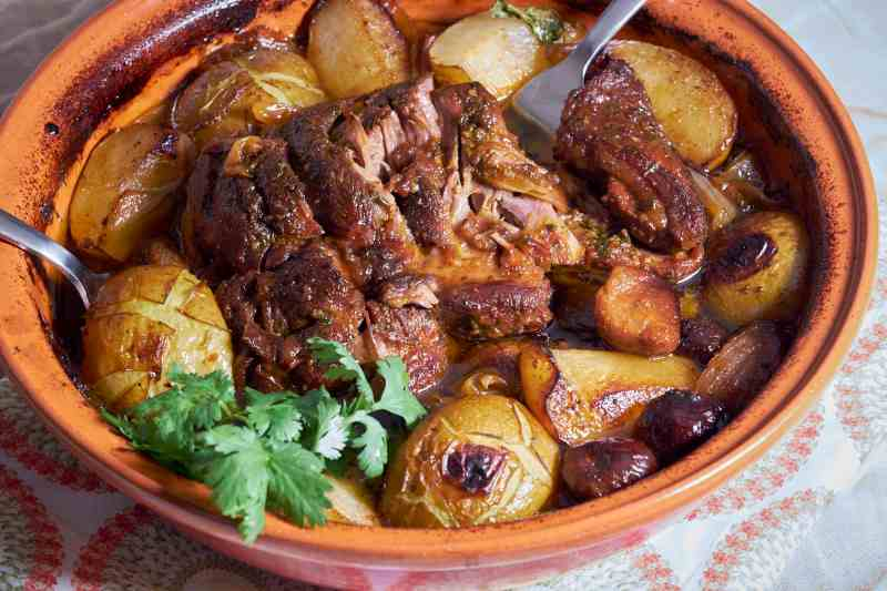 Moroccan Lamb Tagine with Asian Pears