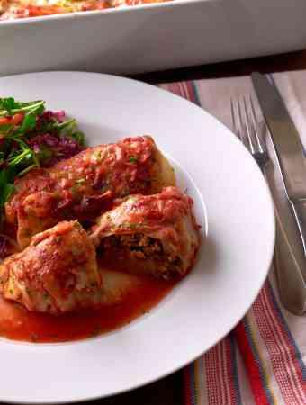 Turkey Lentil Stuffed Cabbage Rolls