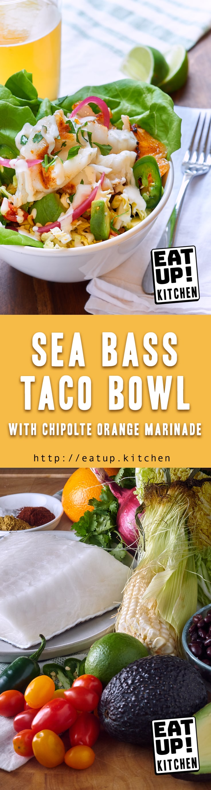 Sea Bass Taco Bowl