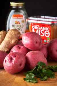 Miso Honey Smashed Potatoes